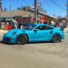 Porsche 991 GT3 RS painted in paint to sample Riviera Blue  Photo taken by: @omar__auto on Instagram