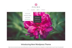 Phlox - Build an Elegant and Stylish Website for Free Wordpress Theme, Website, Elegant, Stylish, Free, Classy, Chic