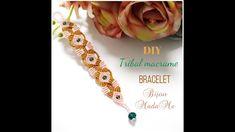 Macrame bracelet tutorial. DIY macrame jewelry. How to make tribal macrame bracelet with beads. - YouTube