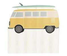 Testiera letto in legno di pino Wagon Surf giallo, 105x115x5 cm