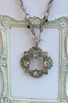 Vintage Rhinestone and Gemstone Necklace~!