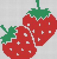 Alpha Friendship Bracelet Pattern added by missmando. Cross Stitch Fruit, Simple Cross Stitch, Cross Stitch Flowers, Cross Stitch Charts, Cross Stitch Designs, Cross Stitch Patterns, Crochet Chart, Crochet Motif, Crochet Rope