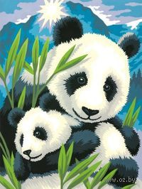 Картина по номерам `Панда и детеныш` (305х230 мм; арт. DMS-73-91456)