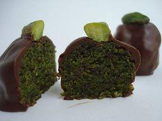 Cioccolatini al Pistacchio di Bronte ricetta di David Russo - Siciliafan
