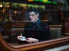 Through a window- cafe location