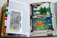 Journal Pages by Johwey Redington. Take an old book, paint the pages, add paper and use as a journal