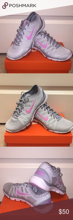 WMNS Nike Flex Supreme TR 3 Size 6.5 WMNS Nike Flex Supreme TR 3 size 6.5 in grey and pink. Completely forgot that I had these so they've only been worn once or twice. Amazing condition! Nike Shoes Sneakers