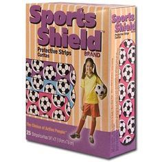 Girl's Soccer Sports Shield brand protective strips.  More Soccer scratchings at: www.zazzle.com/SoccerMomCity?rf=238479042766184488 and http://www.cafepress.com/SoccerMomCity?aid=78178956