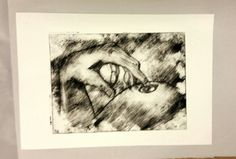 'Touch' 1 of 3 Series 2 of 3 A4 Drypoint print