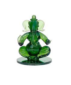 Decorative #Ganesh in Green Glass material   #homedecor #decorative #handicrafts #craftshopsindia