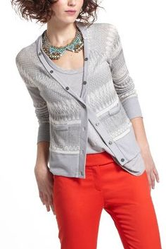 Etched Frost Cardigan  Cute!  I just found this on clearance @ Anthropologie!!!