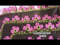 ▶ Example Of Crochet Lace : Tığ Oyası Örneği 20 - YouTube