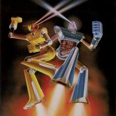 "Sci-fi illustrations by Shusei Nagaoka ""Munich Machine"" (Album cover) 1977 Musica Disco, Les Reptiles, Italo Disco, Music Album Covers, Conceptual Design, Science Fiction Art, Retro Futurism, Sci Fi Art, Electronic Music"