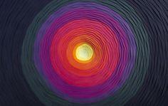 Mesmerizing 3D Paper Spirals Look Like Colorful Portals to Wonderland - My Modern Met