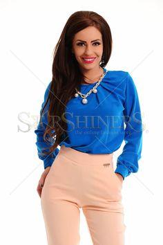 PrettyGirl Pearled Blue Blouse