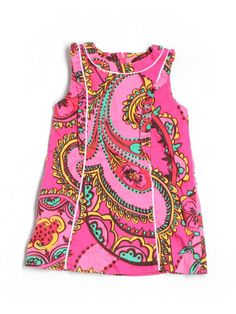 Toddler Girl Lilly Pulitzer Follow the Pink Road Paisley Shift Dress Size 3/3T
