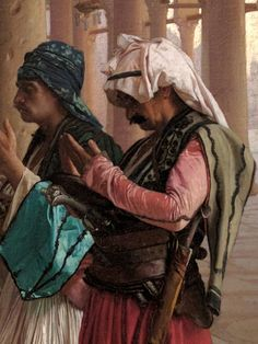 Prayer at the Mosque (detail) by Jean Leon Gerome
