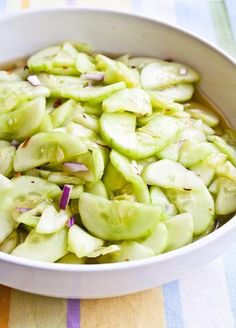 Honey-Sweetened Cucumber Salad