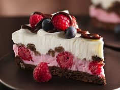 Chocolate and Berries Yogurt Dessert