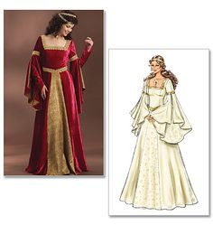 patron couture gratuit robe medievale 3