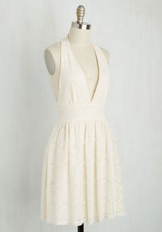 All Inspiring Dress in Ivory. Clad in this ivory lace dress, your look is one in a million, and accordingly, you feel as fetching as ever! #cream…