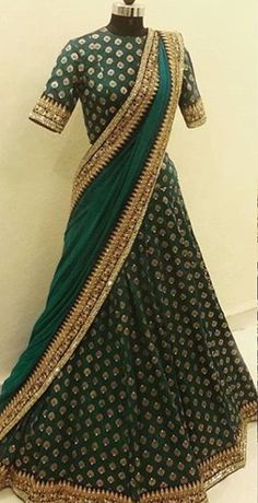 Indian Lehenga, Indian Gowns, Indian Attire, Red Lehenga, Indian Wear, Lehenga Choli, Half Saree Designs, Lehenga Designs, Blouse Designs