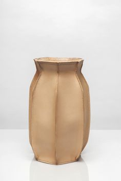 Plumber's Piece vase by Studio Roex. Dutch Design Week. Leather & rubber. 3 sizes, 4 colors. For sale at Gimmii.nl