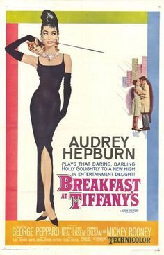 Breakfast at Tiffany's is a 1961 romantic comedy film starring Audrey Hepburn and George Peppard, directed by Blake Edwards and released by Paramount Pictures. Best Movie Posters, Classic Movie Posters, Original Movie Posters, Classic Movies, Film Posters, Original Song, Buy Posters, Classic Movie Quotes, Cinema Posters