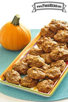 Breakfast Pumpkin Cookies | Food Hero - Healthy fall dessert recipe, fall treat, KID APPROVED dessert