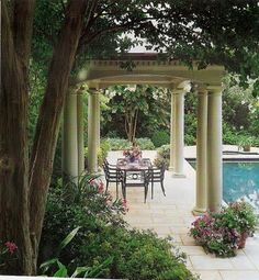 THIS pergola...two columns at each end...