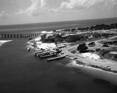 Florida Memory - Aerial view of marina - Destin, Florida