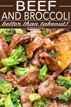 Beef and Broccoli - Easy and Better Than Takeout! - - Better Than Take Out Beef and Broccoli, tender flank steak marinated and seared at a high temp, mixed with broccoli in a thick soy based gravy, like your favorite take out, but better! Chinese Beef And Broccoli, Easy Beef And Broccoli, Slow Cooker Broccoli, Broccoli Recipes, Slow Cooker Beef, Recipe For Beef Broccoli, Teriyaki Beef Stir Fry, Steak Stir Fry, Gourmet