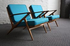 Brilliant Danish Mid Century Modern Poul Jensen Z Chairs for Selig (Denmark, 1950's)
