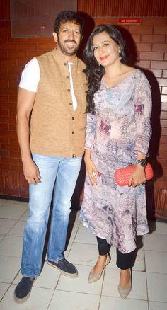 Kabir Khan and Mini Mathur at the screening of 'Kill Dil'. #Bollywood #Fashion #Style #Beauty