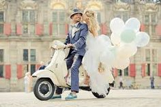 Here's a cute wedding idea: Arrive by motor scooter or Vespa–just like how they do in Italy! Vespa Wedding, Wedding Car, Wedding Blog, Wedding Planner, Dream Wedding, Cute Wedding Ideas, Wedding Pictures, Perfect Wedding, Wedding Inspiration