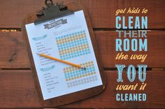 How to get your kids to clean their room the way YOU want it cleaned - an editable clean room checklist download