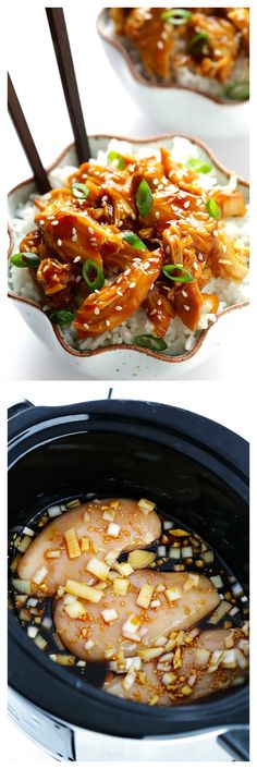 Slow Cooker Teriyaki Chicken -- this only take 10 minutes to check, and goes great with so many meals! | gimmesomeoven.com