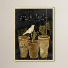 Fresh Herbs Giclee Print   Joss & Main