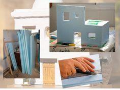 Corcho para las casitas del Portal de Belén Christmas Tea, Christmas Nativity, Foam Crafts, Diy And Crafts, Mexican Christmas Traditions, Paper Houses, Miniature Houses, Diy Dollhouse, Little Houses
