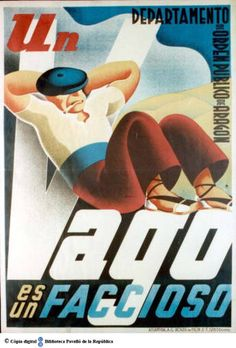 Un Vago es un faccioso :: Cartells del Pavelló de la República (Universitat de Barcelona)