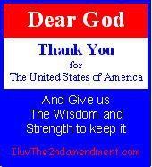 Dear God, thank you for the United States of America
