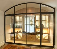 Very cool wine room and bar area