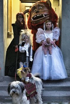 Family Labyrinth Halloween Costumes Complete!....Yesss! Oh, and we won't need a doll for Toby since my 6 month old baby nephew looks just like him! :)