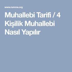 Muhallebi Tarifi / 4 Kişilik Muhallebi Nasıl Yapılır