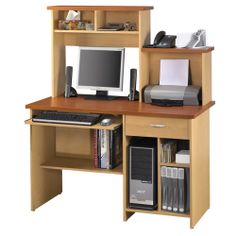 Bestar Compact Computer Workstation (86450) - Brown #Roboform and #MyDearSantaWishList 							 							 							- Online Only