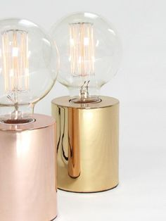 Stylishly simple, the Sil table lamp instantly brings a touch of industrial luxe to any interior. Compact and cylindrical in form, this sleek little table lamp