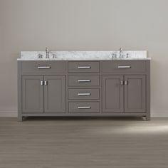 "Heidi 72"" Double Sink Bathroom Vanity Set"