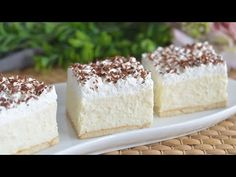 Ne mogu opisati koliko je ovaj kolač dobar, morate ga probati. Bez pečenja. - YouTube Party Desserts, No Bake Desserts, Dessert Recipes, Semolina Cake, English Food, Pastry Cake, Cheesecakes, No Bake Cake, Amazing Cakes