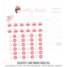 potty chart freebie. {there's one for boys and girls!}  Great Idea!