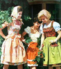 Austrian Dirndl dresses, Burda Moden Spring/Summer 1963